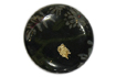Buttons,laminated fabric in metal casing