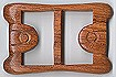 Buckles,natural wood buckles